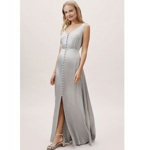 Ghost London Anthropologie BHLDN silver dress
